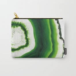 Green Agate Geode slice Carry-All Pouch
