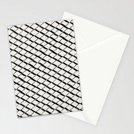 Modern Diamond Lattice 2 Black on Light Gray Stationery Cards