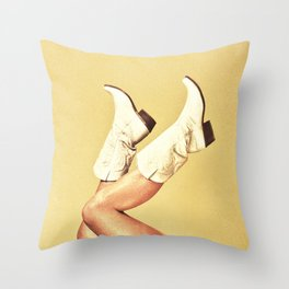 These Boots - Yellow Throw Pillow