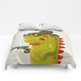 Dino bandito (olive) Comforters