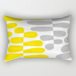 Abstract organic pattern yellow and gray Rectangular Pillow