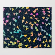 Spirling Triangles Canvas Print
