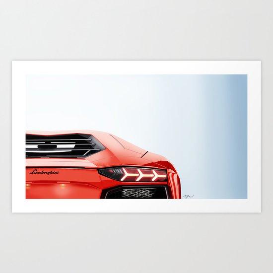 Aventador lights Art Print