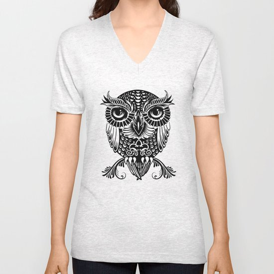 Baby Egyptian Owl Unisex V-Neck