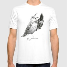 Tui Bird White SMALL Mens Fitted Tee