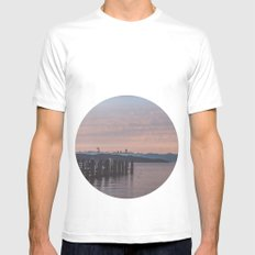 Starnbergersee at dawn Mens Fitted Tee White MEDIUM