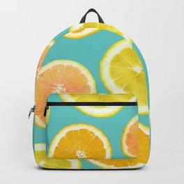 Lemon Citrus Melody Print Backpack