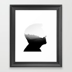 Mountains in the head Framed Art Print