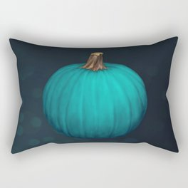 Teal Pumpkin Rectangular Pillow