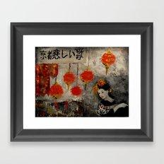 KYOTO SAD SONG Framed Art Print
