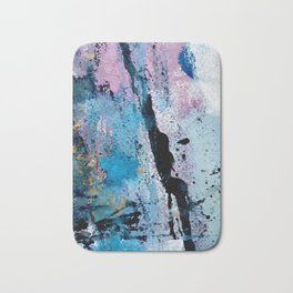 Breathe [3]: colorful abstract in black, blue, purple, gold and white Badematte