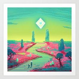PHAZED PixelArt 3 Art Print