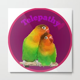 telepathy birds Metal Print