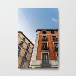 Madrid Old Buildings Metal Print