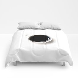 Black Coffee (Black and White) Comforters