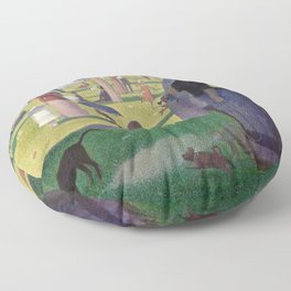 Georges Seurat - A Sunday Afternoon on the Island of La Grande Jatte Floor Pillow