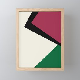 Abstract #11 Beige Green Black Red Framed Mini Art Print