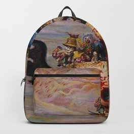 Death & Heaven (Existential Crisis) symbolism landscape painting by James Ensor Backpack