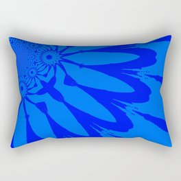 The Modern Flower Blue on Blue Rectangular Pillow