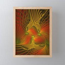 Mysterious and Luminous, Abstract Fractal Art Framed Mini Art Print