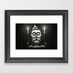 Hu! Framed Art Print