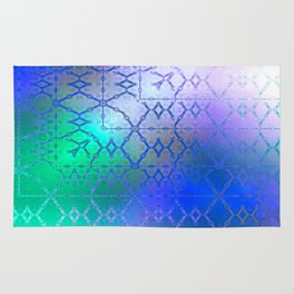 Summer of Retro (blue-green-purple) Rug