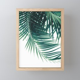 Palm Leaves Green Vibes #4 #tropical #decor #art #society6 Framed Mini Art Print