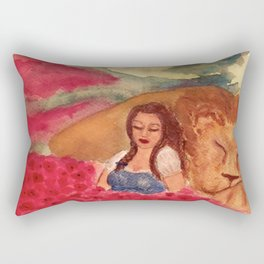 Poppies and Sleep Rectangular Pillow