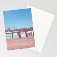 Beach huts Stationery Cards