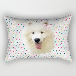 Sweet Samoyed Dog Rectangular Pillow