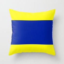 Semaphore D Throw Pillow