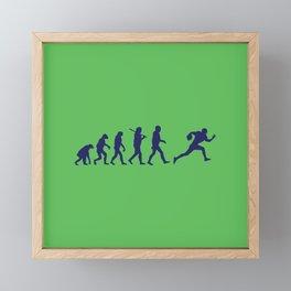 Evolution football Framed Mini Art Print
