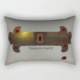 Treasure Island Minimal Poster Rectangular Pillow