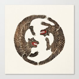 Vintage Japanese Tiger design Canvas Print