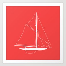 Nautical Boat Art Print