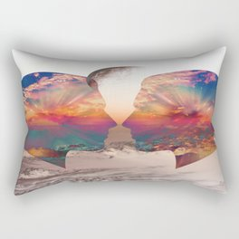Two Minds Think Alike Rectangular Pillow