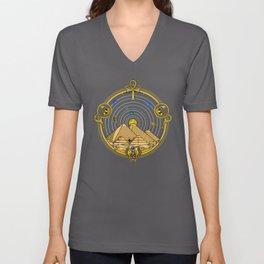Space Egyptian Pyramids Unisex V-Neck