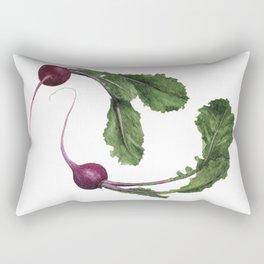 Scarlet Turnips Rectangular Pillow