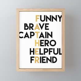DEAR FATHER Fathers Day Quote Framed Mini Art Print