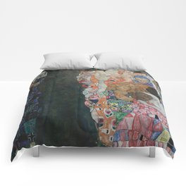 Life and Death - Gustav Klimt Comforters