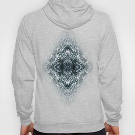 Beautiful Silver sparkles Frozen Ice bubbles Mandala Hoody