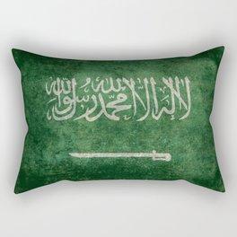 Flag of  Kingdom of Saudi Arabia - Vintage version Rectangular Pillow