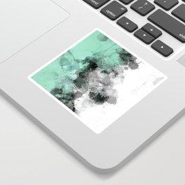 Mint Green Paint Splatter Abstract Sticker