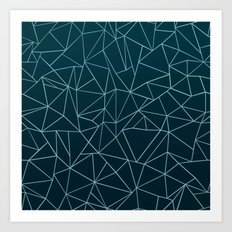 Ombre Ab Teal Art Print