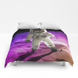 Astronaut Low Poly Comforters