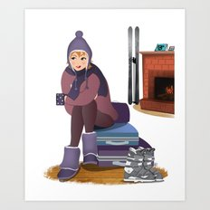 I Love Winter Art Print