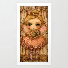The Bunny And The Ballerina Art Print