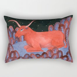 Taurus - Zodiac illustration astrology series Rectangular Pillow