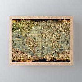 Vintage Old World Map Framed Mini Art Print