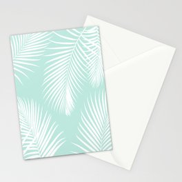 Mint Tropical Pattern Stationery Cards
